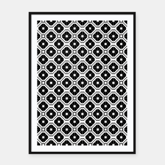 Miniaturka Black and white diamond pattern Framed poster, Live Heroes