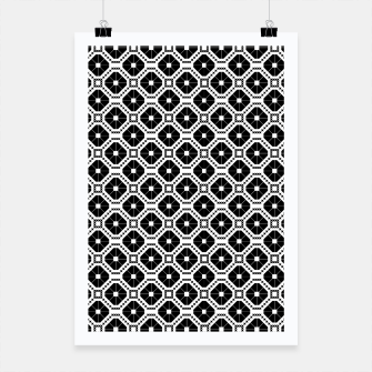 Thumbnail image of Black and white diamond pattern Poster, Live Heroes