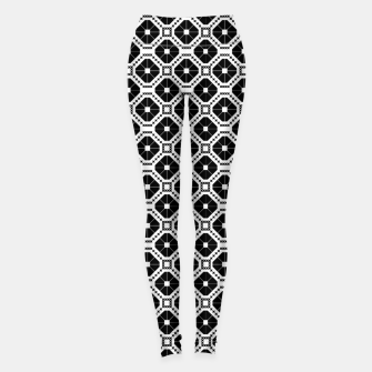 Thumbnail image of Black and white diamond pattern Leggings, Live Heroes