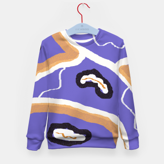 Miniatur Abstract art 1 Kid's sweater, Live Heroes