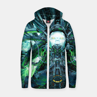 Thumbnail image of Artificial Angel Zip up hoodie, Live Heroes