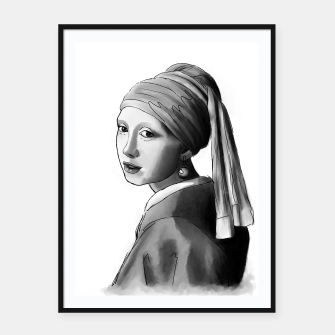 Thumbnail image of Girl with a pearl earring Plakaty w ramie , Live Heroes
