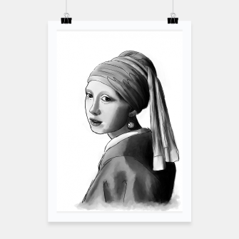 Thumbnail image of Girl with a pearl earring Plakat, Live Heroes