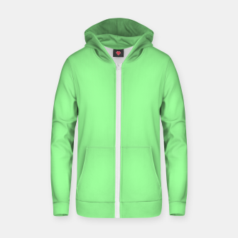 Thumbnail image of color pale green Zip up hoodie, Live Heroes