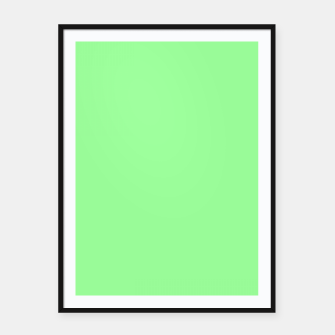 Thumbnail image of color pale green Framed poster, Live Heroes
