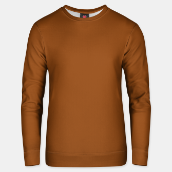 Thumbnail image of color saddle brown Unisex sweater, Live Heroes