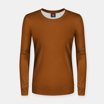 Miniatur color saddle brown Women sweater, Live Heroes