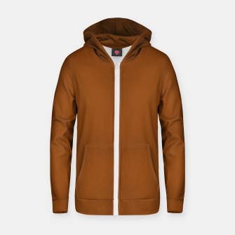 Thumbnail image of color saddle brown Zip up hoodie, Live Heroes