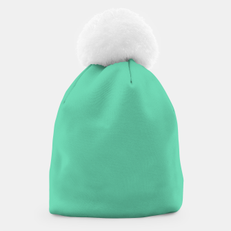 Miniature de image de color medium aquamarine Beanie, Live Heroes