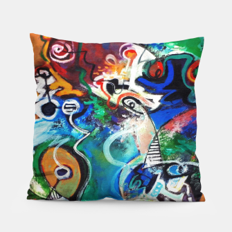 Thumbnail image of Abstract art no 2 Pillow, Live Heroes