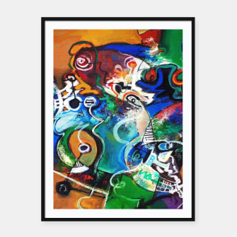 Miniatur Abstract art no 2 Framed poster, Live Heroes