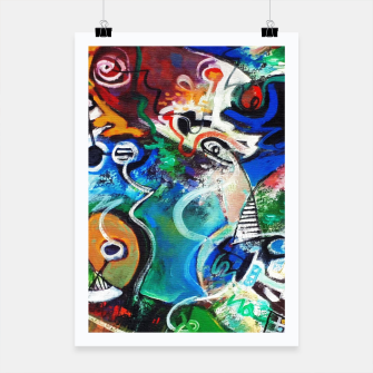 Thumbnail image of Abstract art no 2 Poster, Live Heroes