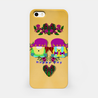the gnomes as pop stars at love land iPhone Case Bild der Miniatur