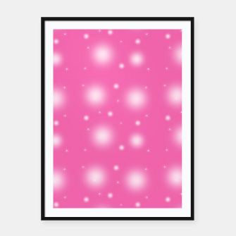 Thumbnail image of Pink bubbles Framed poster, Live Heroes