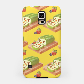 Thumbnail image of Matcha Cake Roll Pattern Samsung Case, Live Heroes
