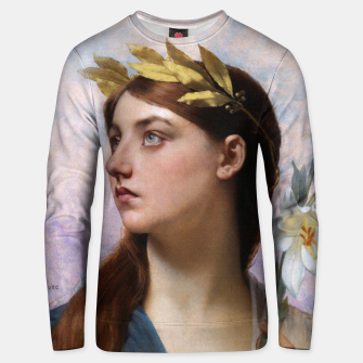 Thumbnail image of An Allegory of Victory by Jules Joseph Lefebvre Unisex sweater, Live Heroes