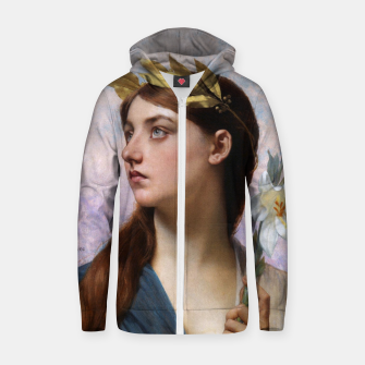 Thumbnail image of An Allegory of Victory by Jules Joseph Lefebvre Zip up hoodie, Live Heroes