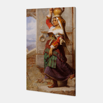 Miniatur A Roman Water Carrier, 1857 by Carl Haag Canvas, Live Heroes