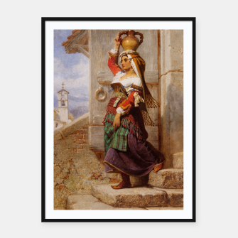 Miniaturka A Roman Water Carrier, 1857 by Carl Haag Cartel con marco, Live Heroes