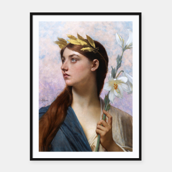 Thumbnail image of An Allegory of Victory by Jules Joseph Lefebvre Framed poster, Live Heroes