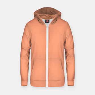Thumbnail image of color light salmon Zip up hoodie, Live Heroes