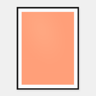 Thumbnail image of color light salmon Framed poster, Live Heroes