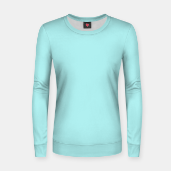 Miniatur color pale turquoise Women sweater, Live Heroes