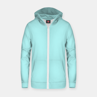Thumbnail image of color pale turquoise Zip up hoodie, Live Heroes