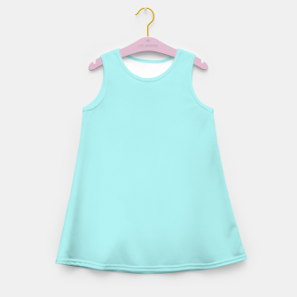 Thumbnail image of color pale turquoise Girl's summer dress, Live Heroes