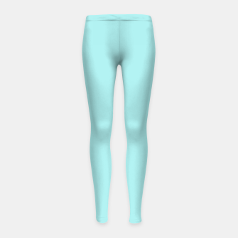 Miniaturka color pale turquoise Girl's leggings, Live Heroes
