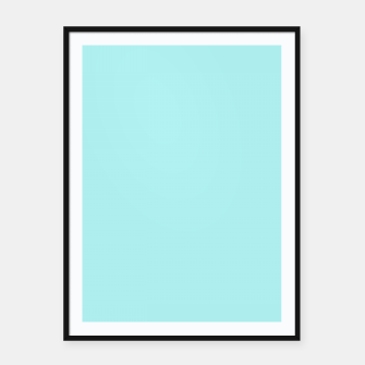 Miniaturka color pale turquoise Framed poster, Live Heroes