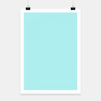 Miniaturka color pale turquoise Poster, Live Heroes