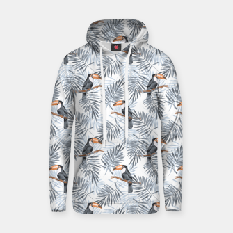 Miniaturka Toucans and palm leaves Hoodie, Live Heroes