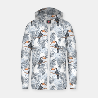 Miniaturka Toucans and palm leaves Zip up hoodie, Live Heroes