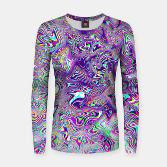 Miniaturka Dope Glitch Waves Women sweater, Live Heroes