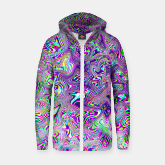 Miniatur Dope Glitch Waves Zip up hoodie, Live Heroes