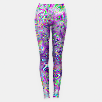 Miniatur Dope Glitch Waves Leggings, Live Heroes
