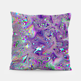Miniatur Dope Glitch Waves Pillow, Live Heroes