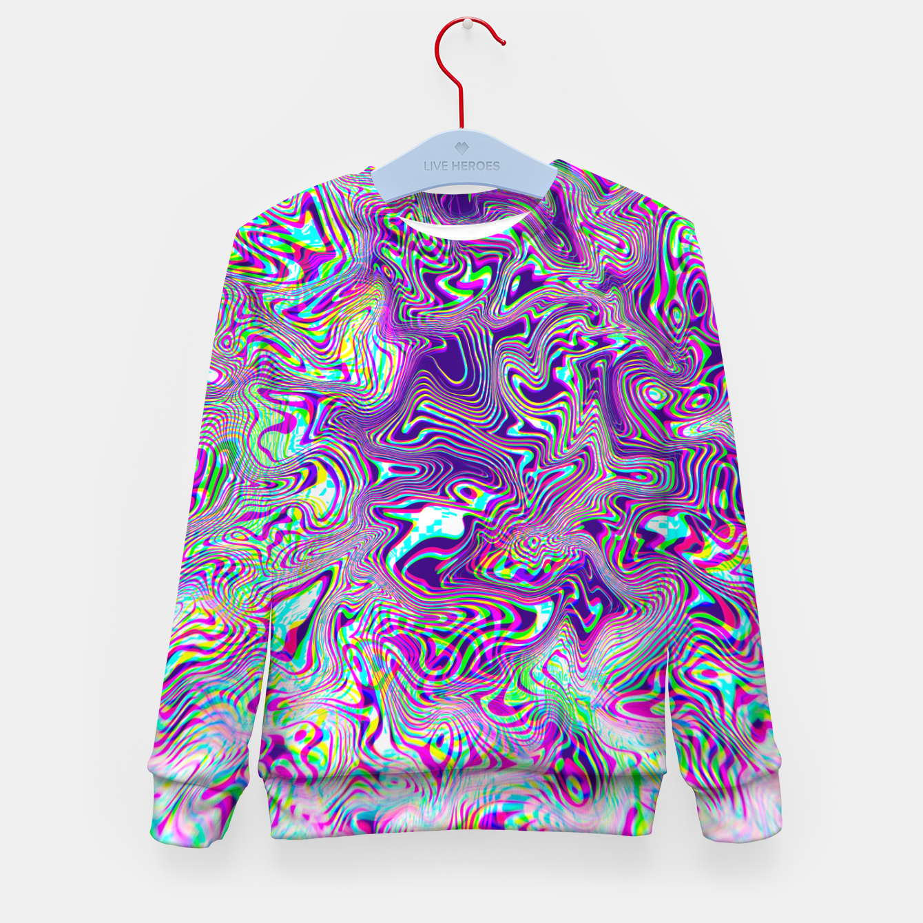 Zdjęcie Dope Glitch Waves Kid's sweater - Live Heroes