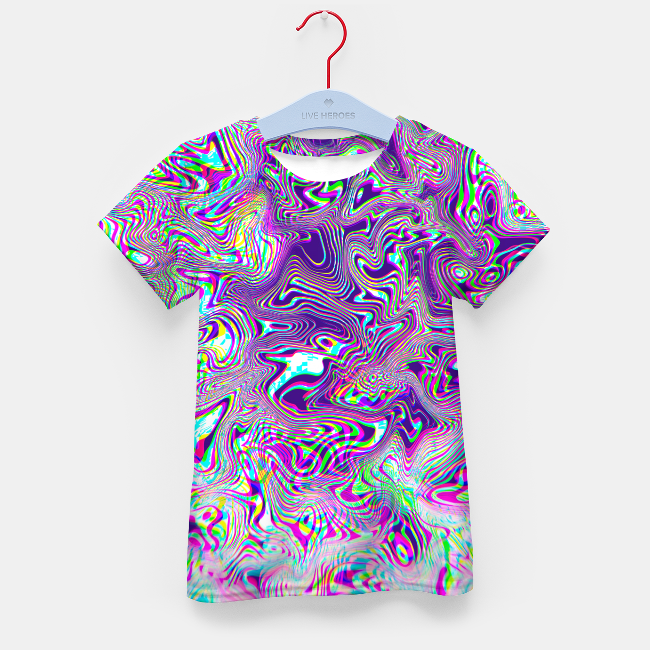 Zdjęcie Dope Glitch Waves Kid's t-shirt - Live Heroes