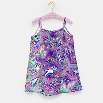 Thumbnail image of Dope Glitch Waves Girl's dress, Live Heroes