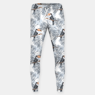 Thumbnail image of Toucans and palm leaves Sweatpants, Live Heroes