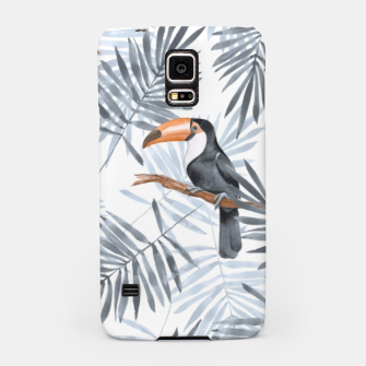 Miniaturka Toucans and palm leaves Samsung Case, Live Heroes