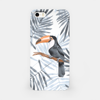 Miniaturka Toucans and palm leaves iPhone Case, Live Heroes