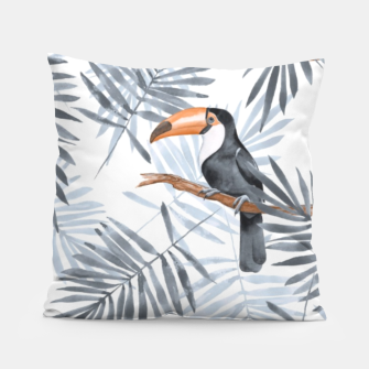 Miniaturka Toucans and palm leaves Pillow, Live Heroes