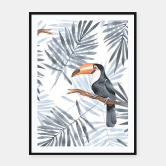 Miniaturka Toucans and palm leaves Framed poster, Live Heroes