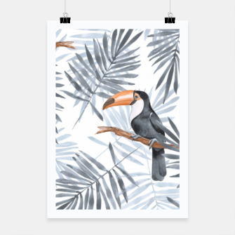 Miniatur Toucans and palm leaves Poster, Live Heroes