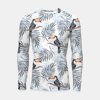 Miniatur Toucans and palm leaves Longsleeve rashguard , Live Heroes