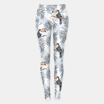 Miniatur Toucans and palm leaves Leggings, Live Heroes