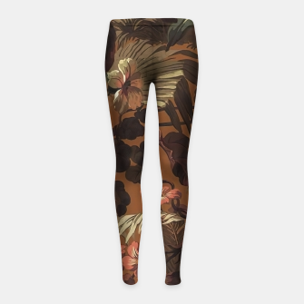 floral Girl's leggings obraz miniatury